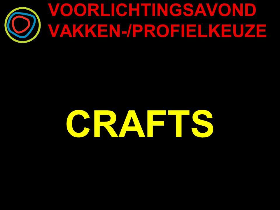 VOORLICHTINGSAVOND VAKKEN-/PROFIELKEUZE CRAFTS