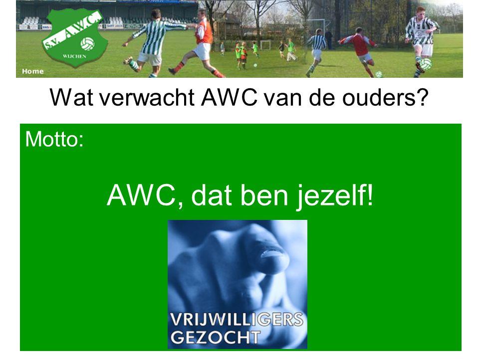 Wat verwacht AWC van de ouders? Motto: AWC, dat ben jezelf!