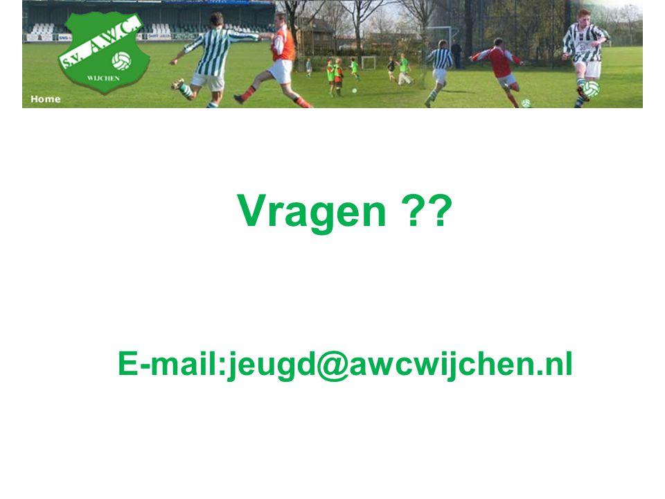 Vragen ?? E-mail:jeugd@awcwijchen.nl