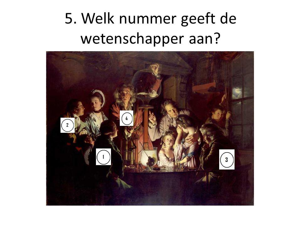 6. Welk nummer geeft de redenaar aan?