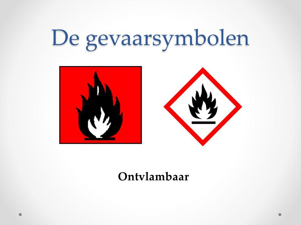 De gevaarsymbolen Ontvlambaar