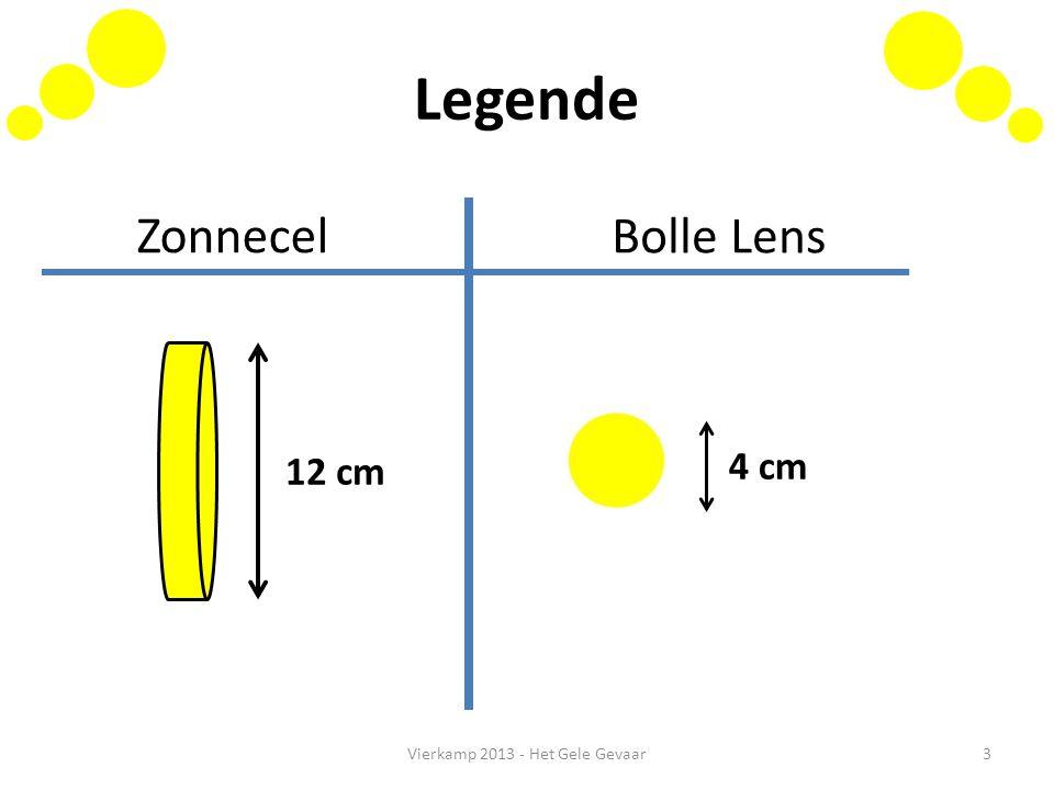 Legende Vierkamp 2013 - Het Gele Gevaar3 12 cm 4 cm Zonnecel Bolle Lens