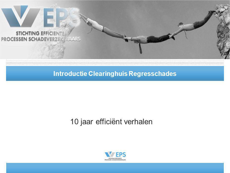 Introductie Clearinghuis Regresschades 10 jaar efficiënt verhalen