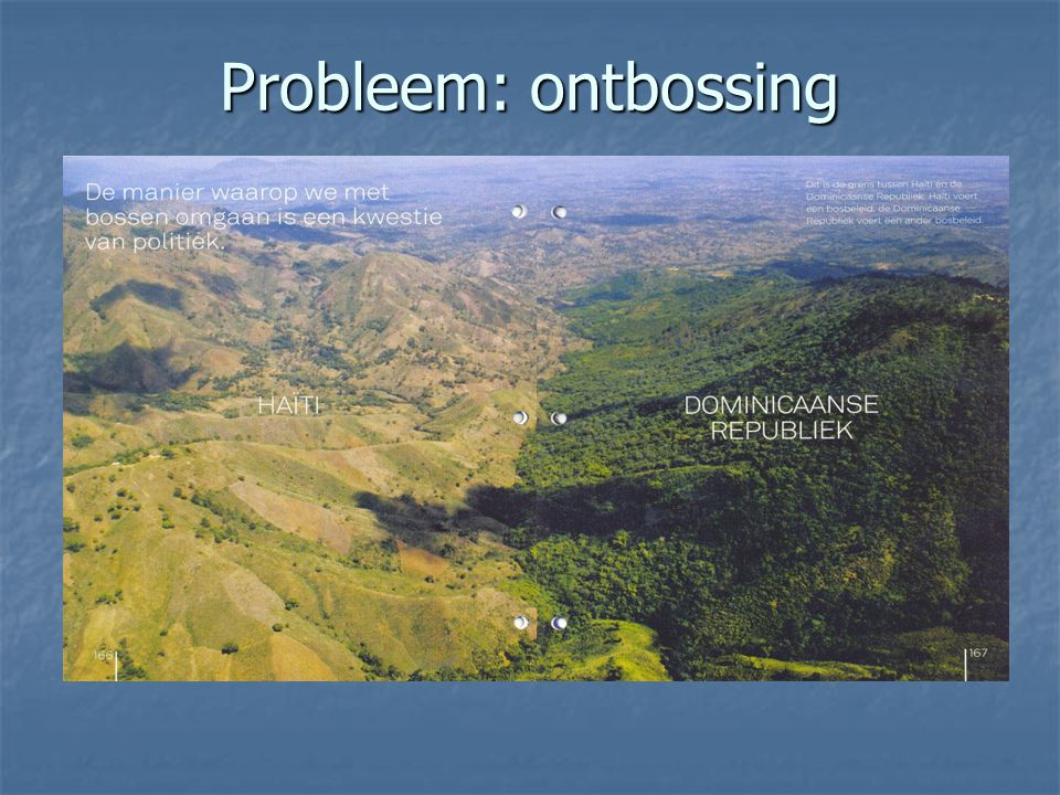 Probleem: ontbossing