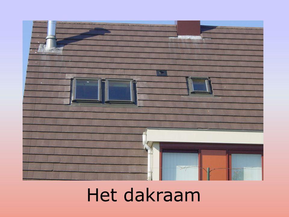 Dit huis heeft een schuin dak
