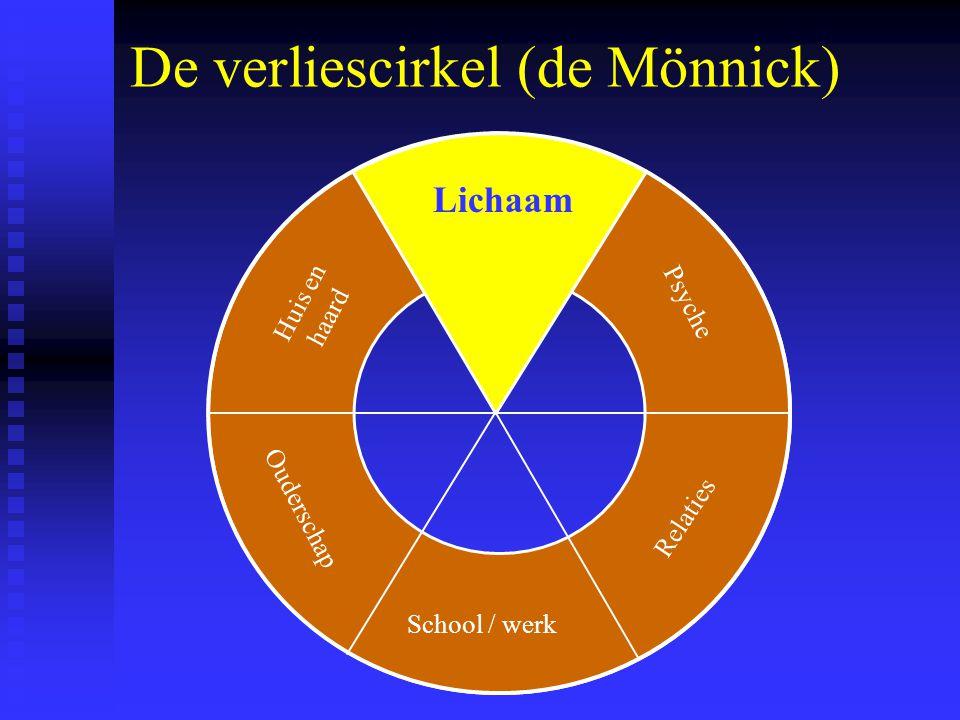 De verliescirkel (de Mönnick) Lichaam School / werk Psyche Relaties Ouderschap Huis en haard Lichaam