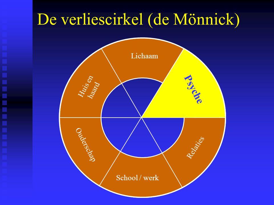 De verliescirkel (de Mönnick) Lichaam School / werk Psyche Relaties Ouderschap Huis en haard Psyche