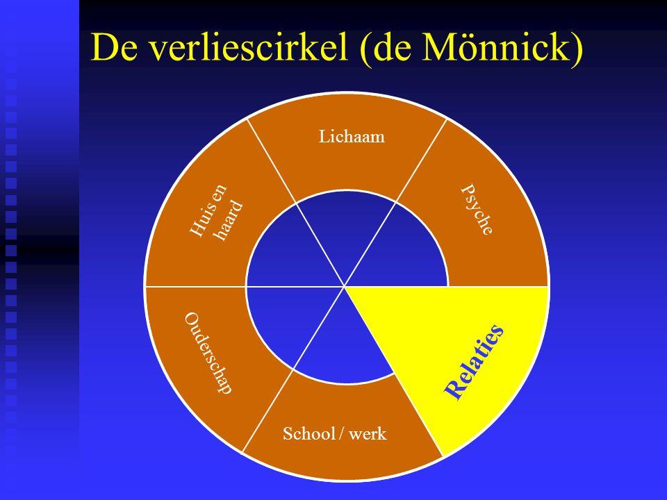 De verliescirkel (de Mönnick) Lichaam School / werk Psyche Relaties Ouderschap Huis en haard Relaties