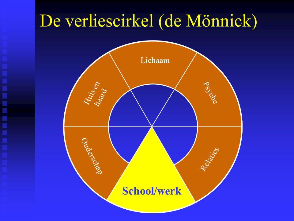 De verliescirkel (de Mönnick) Lichaam School / werk Psyche Relaties Ouderschap Huis en haard School/werk