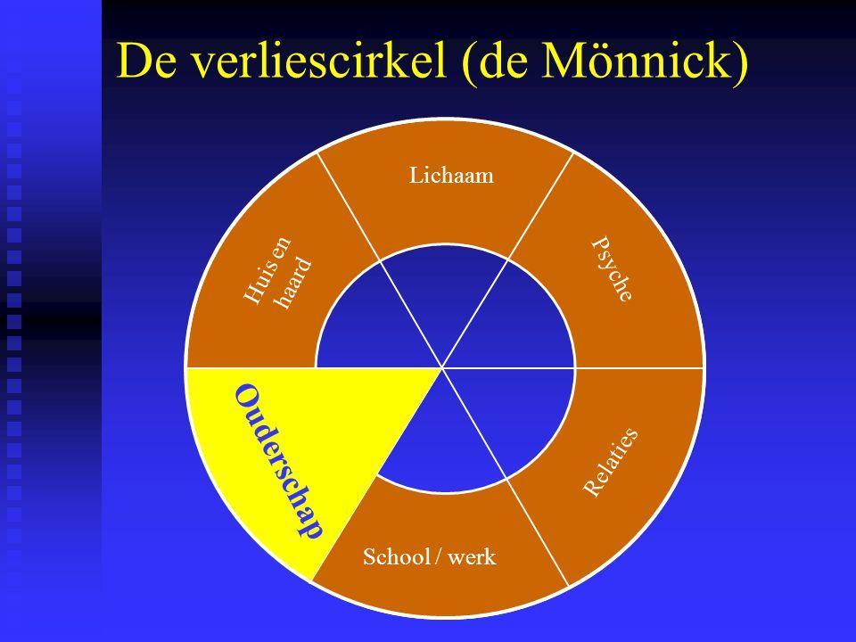 De verliescirkel (de Mönnick) Lichaam School / werk Psyche Relaties Ouderschap Huis en haard Ouderschap