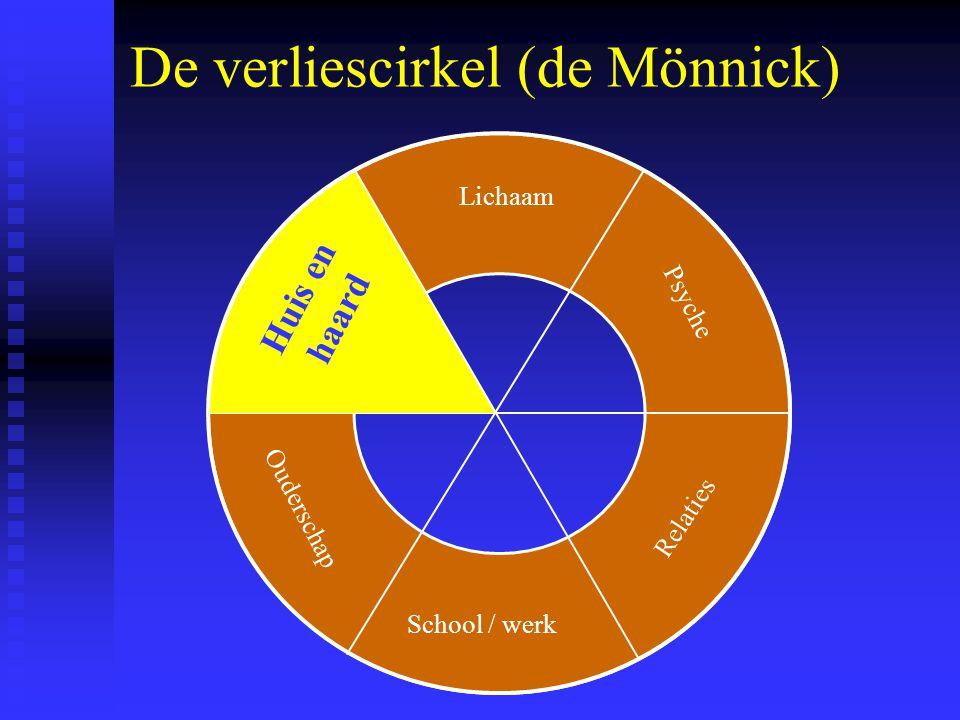 De verliescirkel (de Mönnick) Lichaam School / werk Psyche Relaties Ouderschap Huis en haard