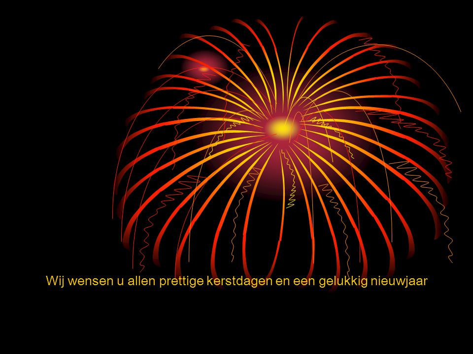 Wij wensen u allen prettige kerstdagen en een gelukkig nieuwjaar