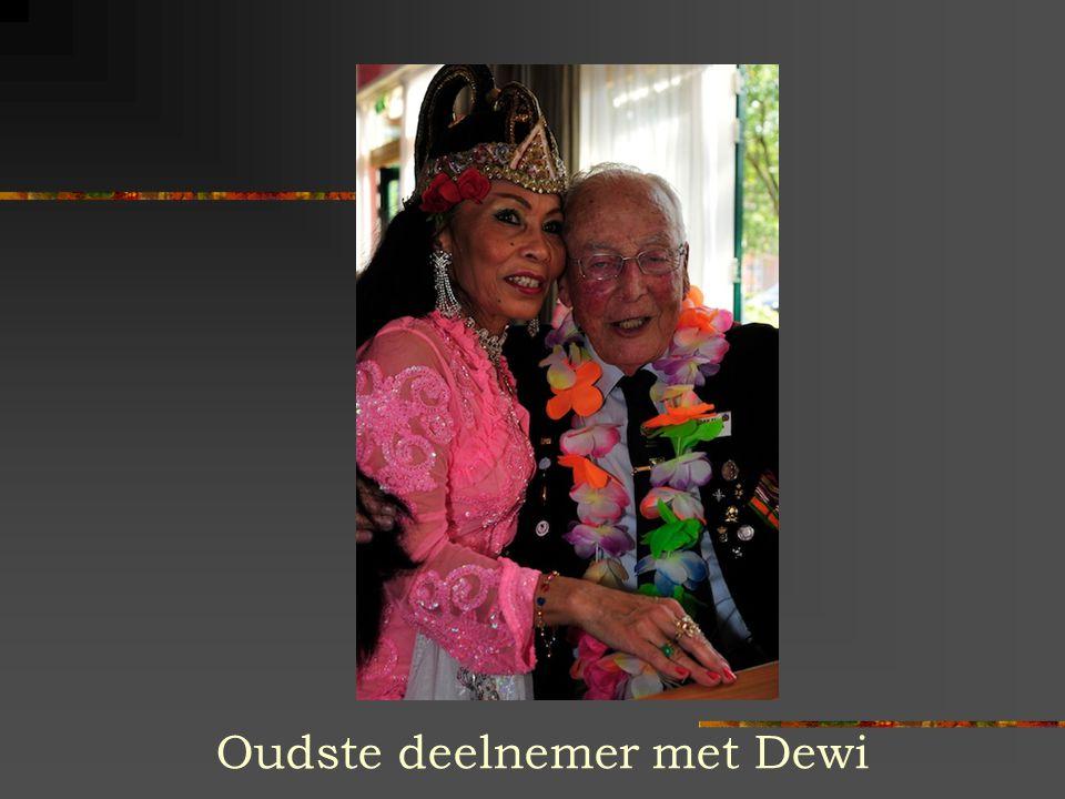 Oudste deelnemer met Dewi