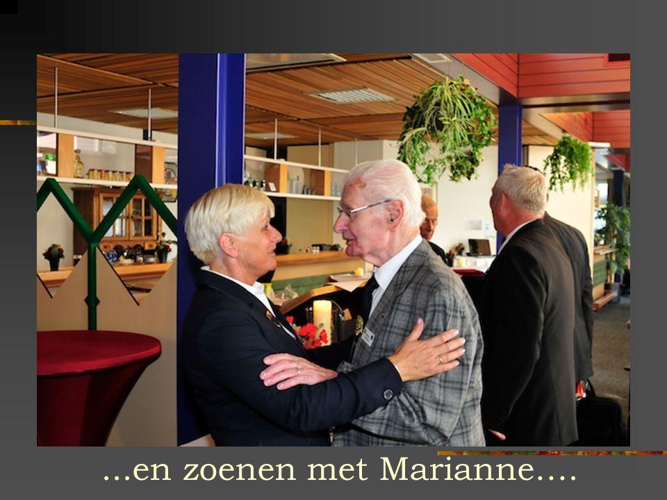 ...en zoenen met Marianne….