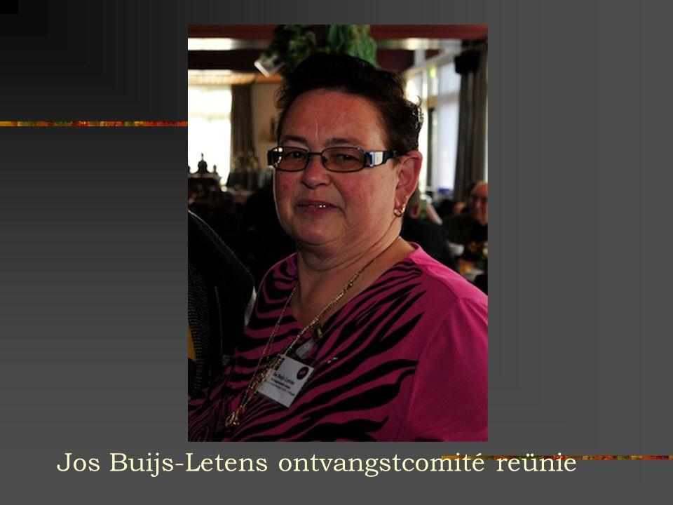 Jos Buijs-Letens ontvangstcomité reünie