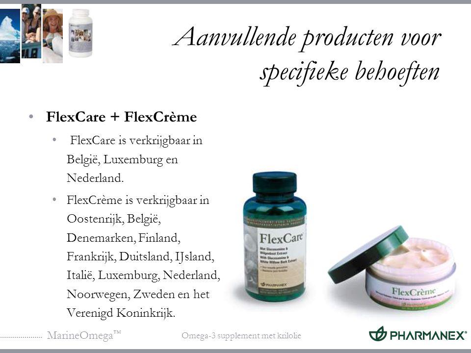 MarineOmega ™ Omega-3 supplement met krilolie Aanvullende producten voor specifieke behoeften Ondersteuning van de hersenfunctie: MarineOmega + BioGinkgo BioGinkgo is verkrijgbaar in: Denemarken, IJsland, Italië, Nederland en het VK