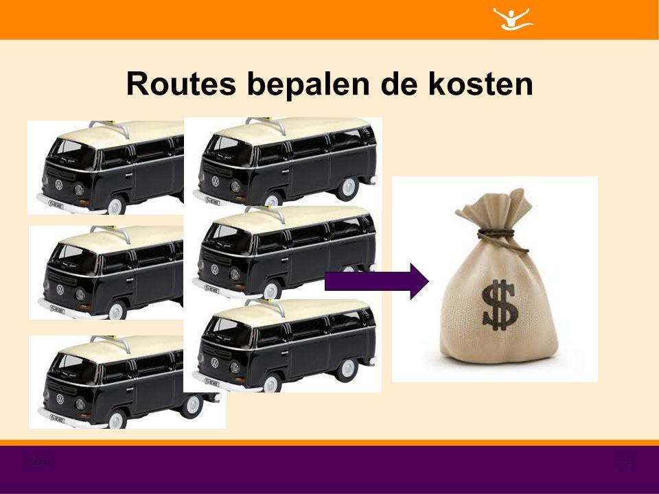 Routes bepalen de kosten 7-7-201410