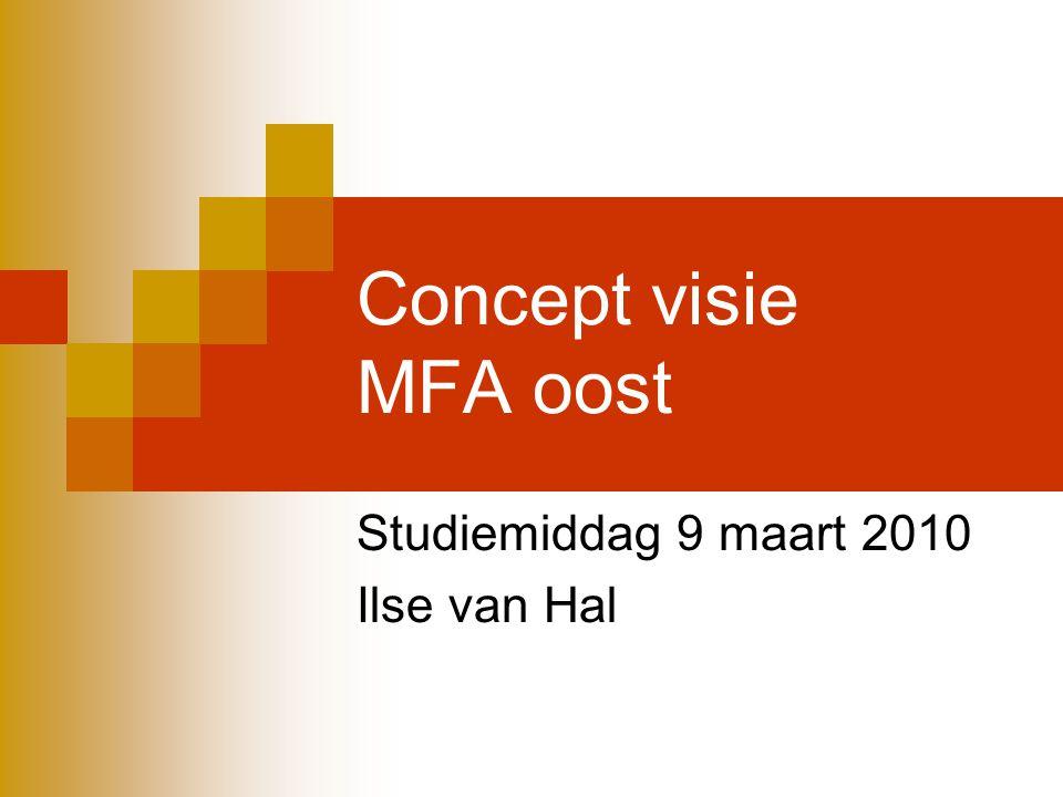 Concept visie MFA oost Studiemiddag 9 maart 2010 Ilse van Hal