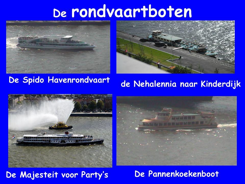 De rondvaartboten De Spido Havenrondvaart de Nehalennia naar Kinderdijk De Majesteit voor Party's De Pannenkoekenboot