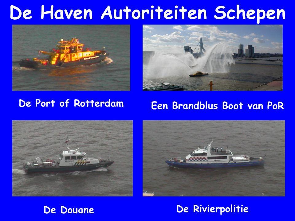 De Haven Autoriteiten Schepen De Port of Rotterdam Een Brandblus Boot van PoR De Douane De Rivierpolitie