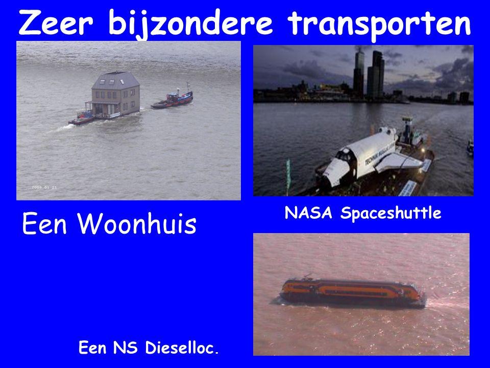 Zeer bijzondere transporten NASA Spaceshuttle Een Woonhuis Een NS Dieselloc.