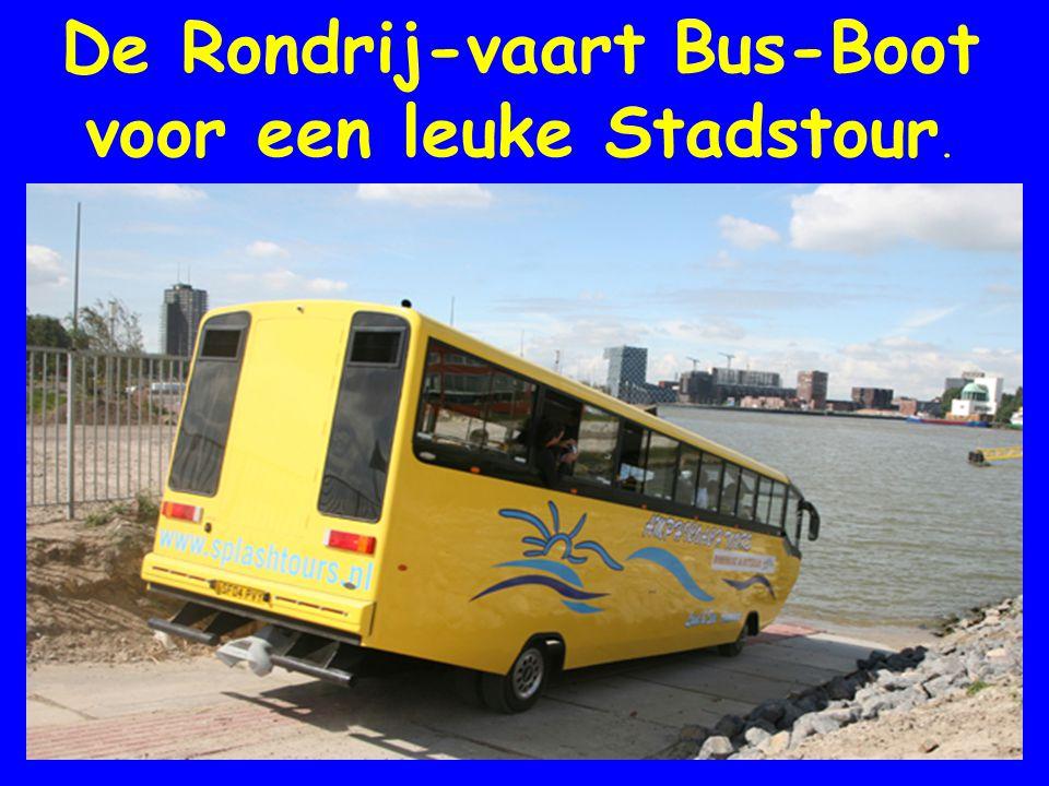 De Bus die kan zwemmen De Rondrij-vaart Bus-Boot voor een leuke Stadstour.
