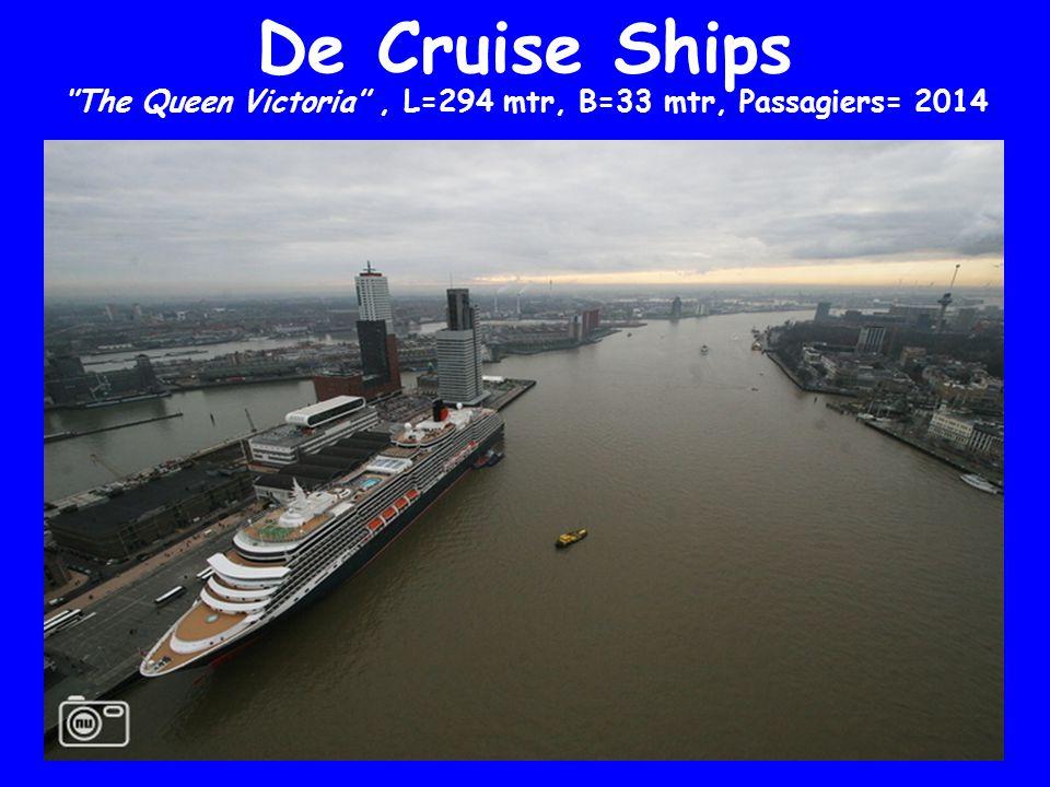 De Cruise Ships ''The Queen Victoria'', L=294 mtr, B=33 mtr, Passagiers= 2014