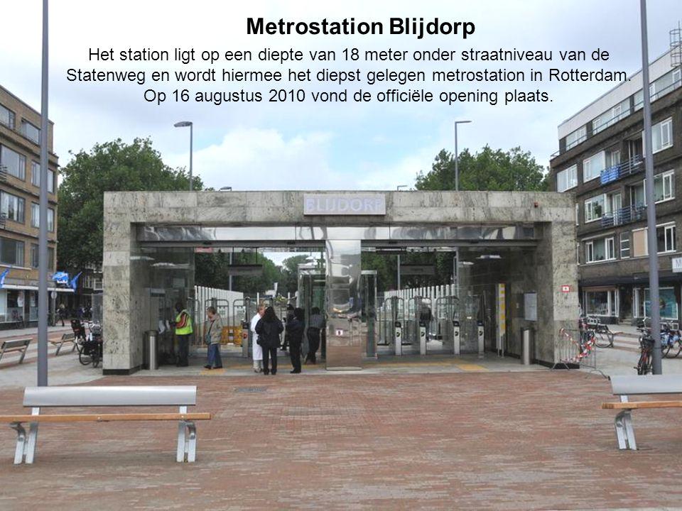 Het station ligt op een diepte van 18 meter onder straatniveau van de Statenweg en wordt hiermee het diepst gelegen metrostation in Rotterdam.