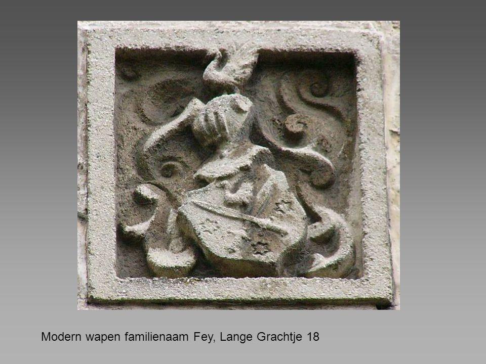 Modern wapen familienaam Fey, Lange Grachtje 18