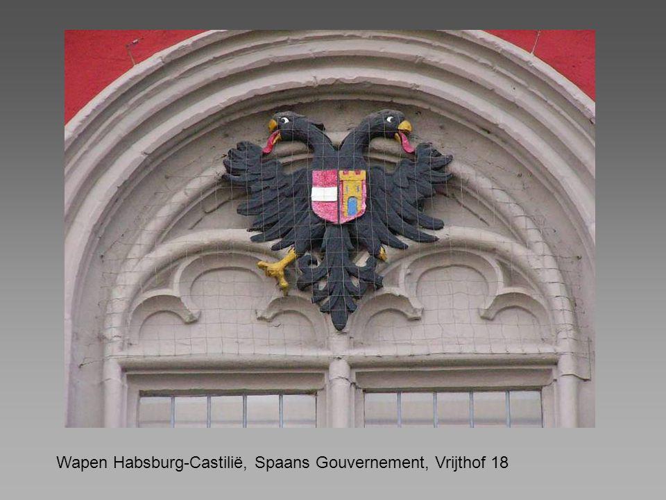 Wapen Habsburg-Castilië, Spaans Gouvernement, Vrijthof 18