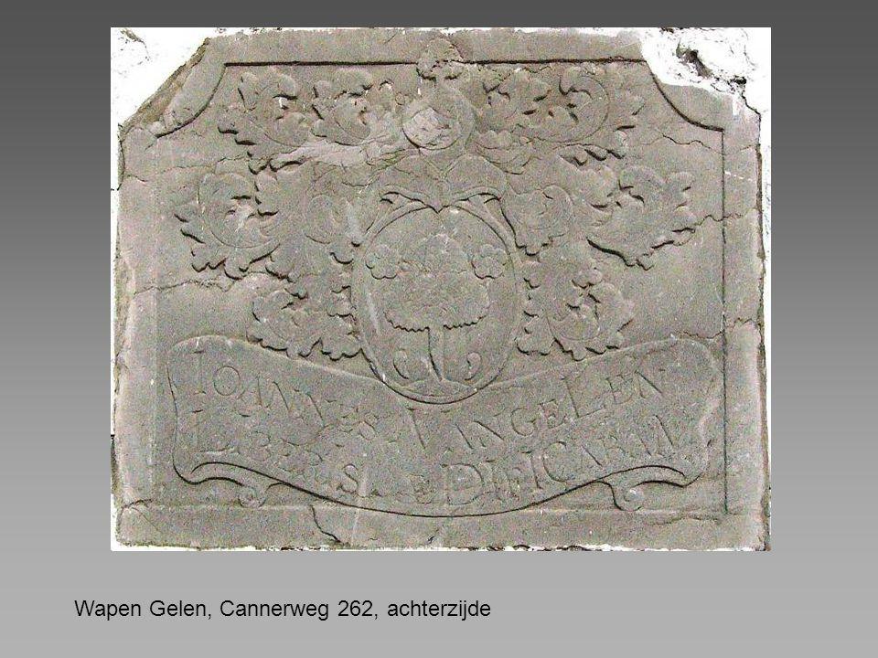 Wapen Gelen, Cannerweg 262, achterzijde