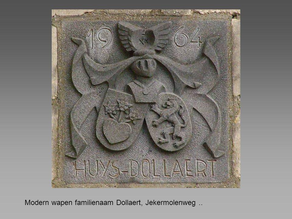 Modern wapen familienaam Dollaert, Jekermolenweg..