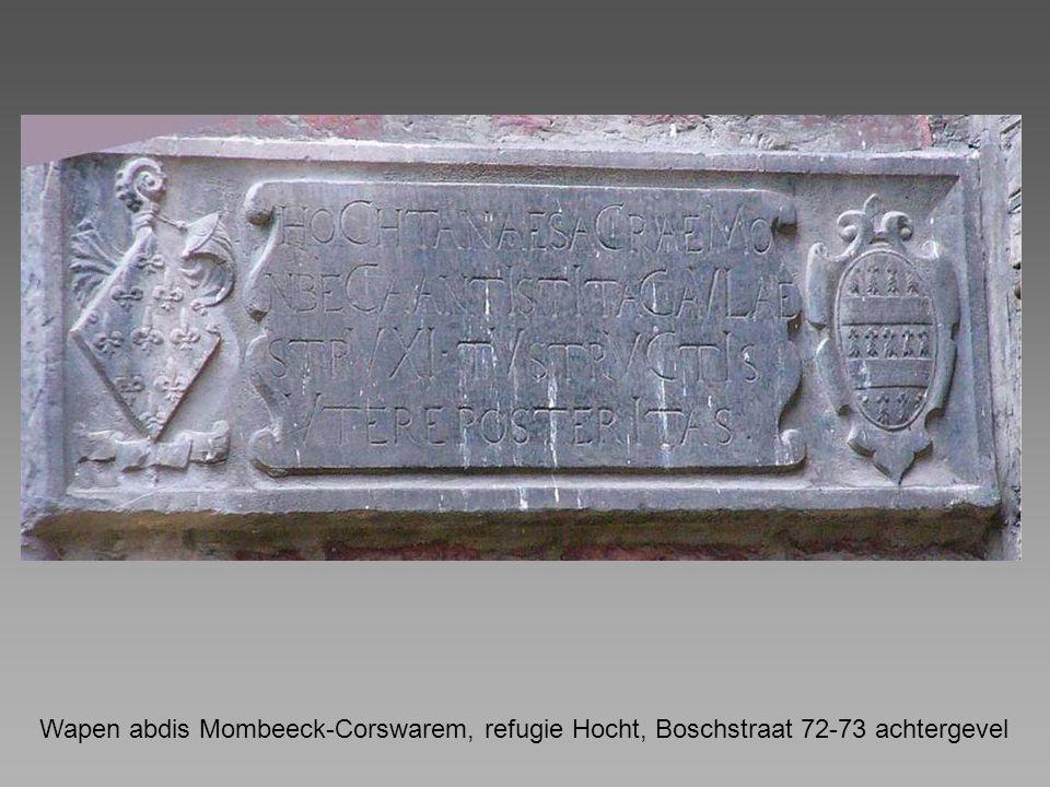 Wapen abdis Mombeeck-Corswarem, refugie Hocht, Boschstraat 72-73 achtergevel