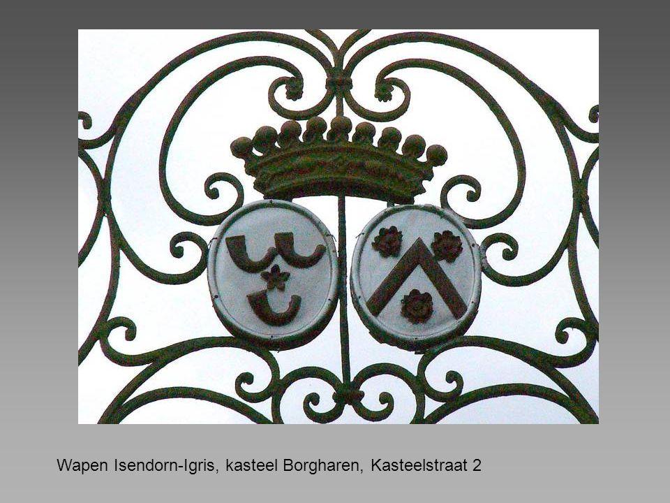 Wapen Isendorn-Igris, kasteel Borgharen, Kasteelstraat 2