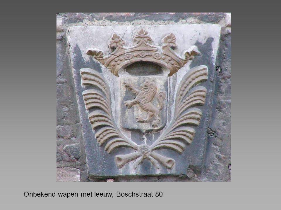 Onbekend wapen met leeuw, Boschstraat 80