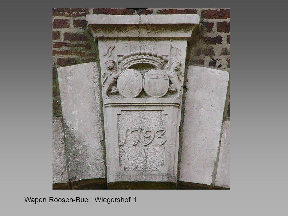 Wapen Roosen-Buel, Wiegershof 1