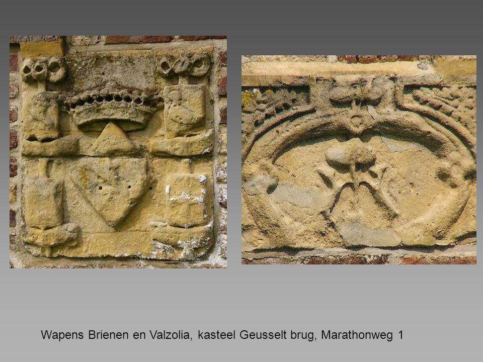 Wapens Brienen en Valzolia, kasteel Geusselt brug, Marathonweg 1