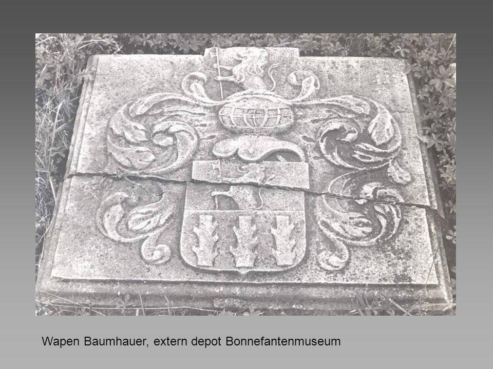Wapen Baumhauer, extern depot Bonnefantenmuseum