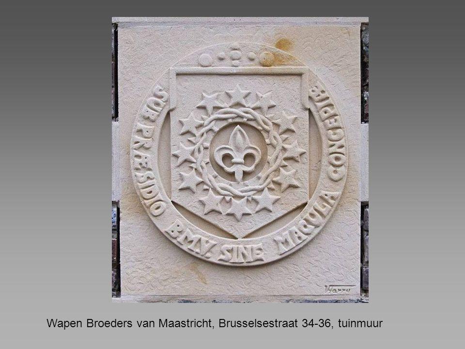 Wapen Broeders van Maastricht, Brusselsestraat 34-36, tuinmuur