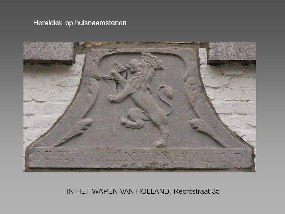 IN HET WAPEN VAN HOLLAND, Rechtstraat 35 Heraldiek op huisnaamstenen