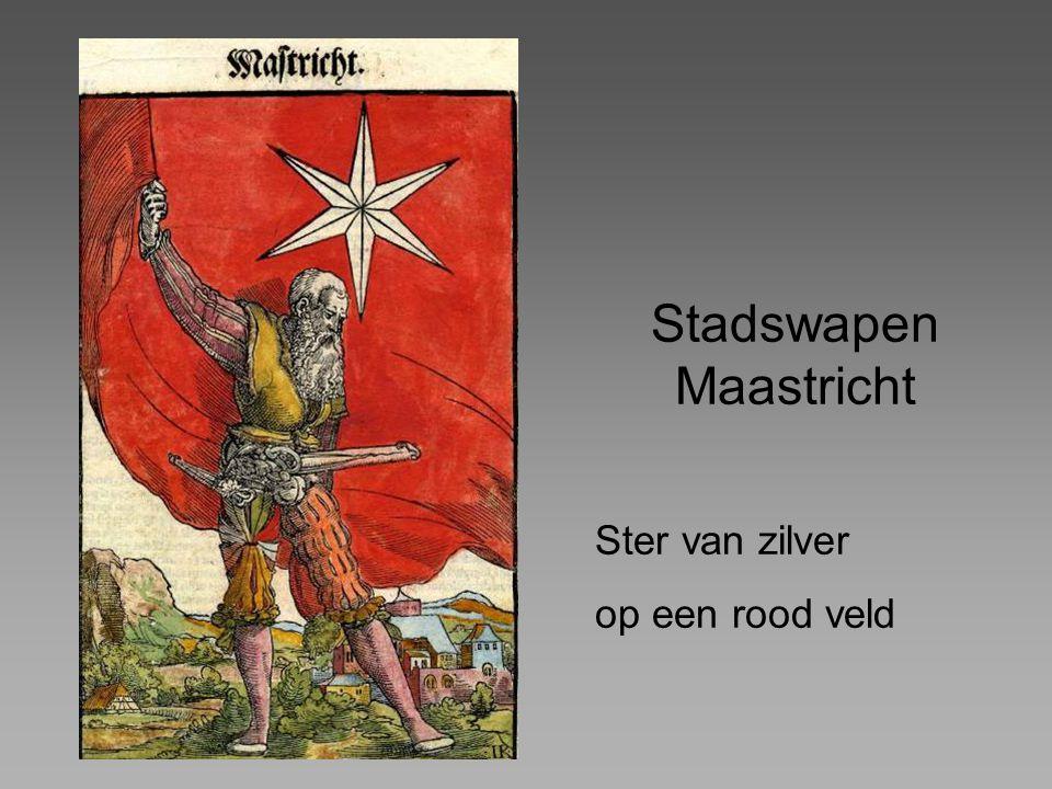 Stadswapen Maastricht Ster van zilver op een rood veld