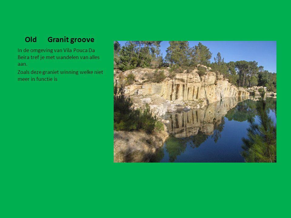Old Granit groove In de omgeving van Vila Pouca Da Beira tref je met wandelen van alles aan. Zoals deze graniet winning welke niet meer in functie is