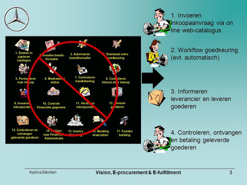 Karina Menten Vision, E-procurement & E-fulfillment3 1.