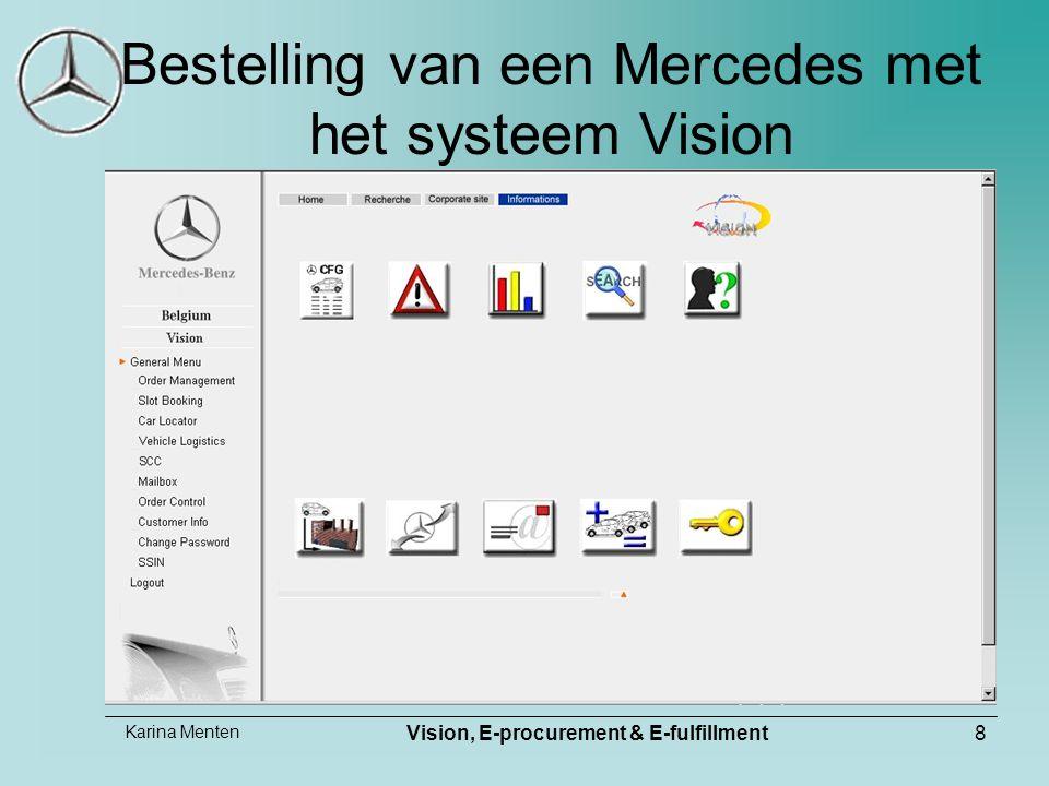 Karina Menten Vision, E-procurement & E-fulfillment8 Bestelling van een Mercedes met het systeem Vision