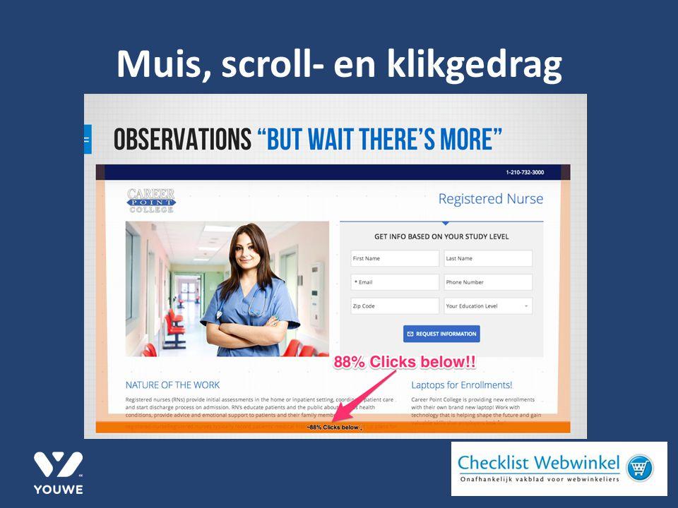Muis, scroll- en klikgedrag