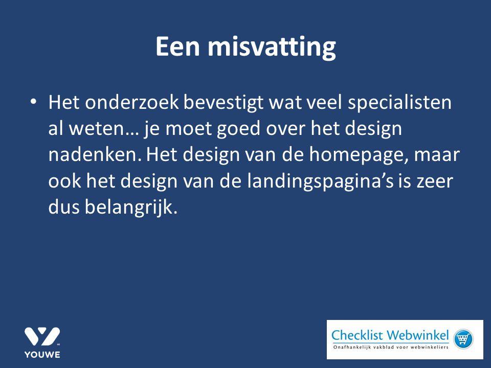 Een misvatting Het onderzoek bevestigt wat veel specialisten al weten… je moet goed over het design nadenken.