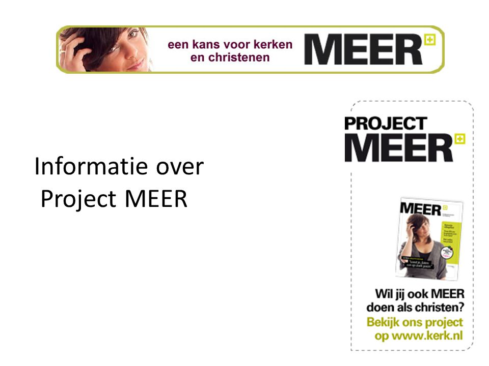 Informatie over Project MEER
