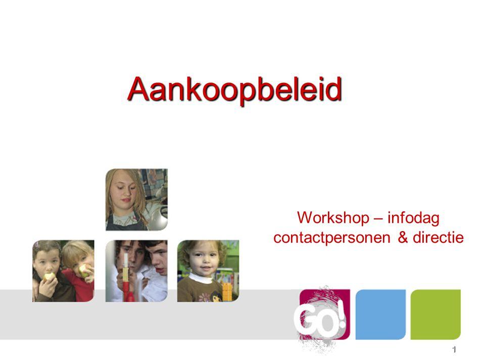 11 Aankoopbeleid Workshop – infodag contactpersonen & directie