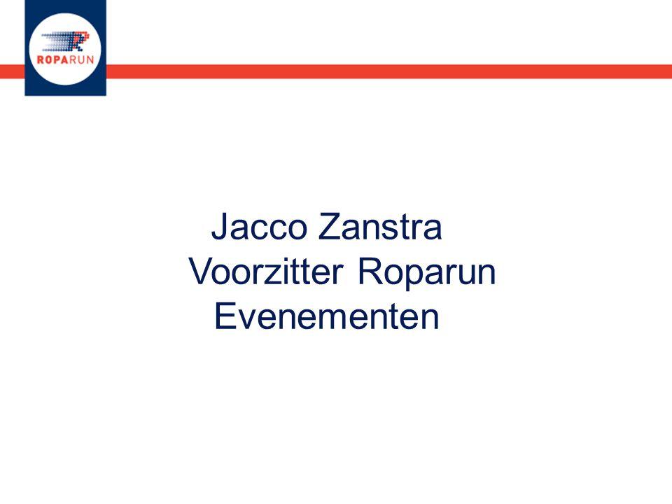 Jacco Zanstra Voorzitter Roparun Evenementen
