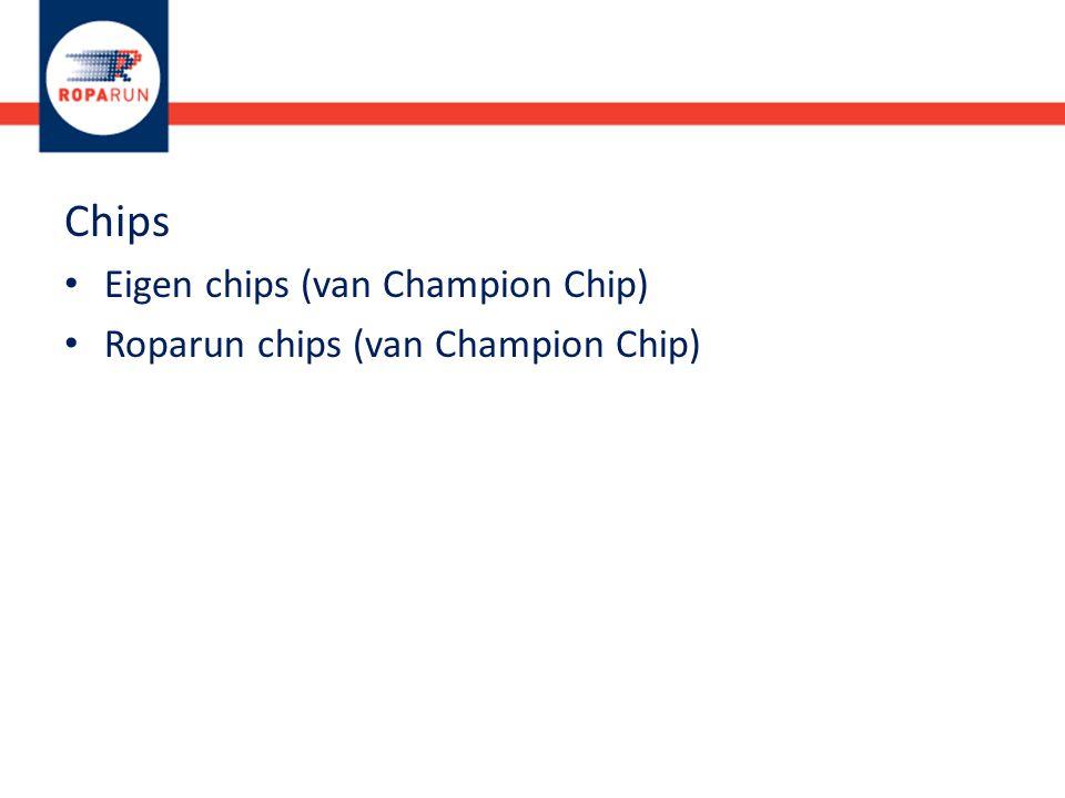 Chips Eigen chips (van Champion Chip) Roparun chips (van Champion Chip)